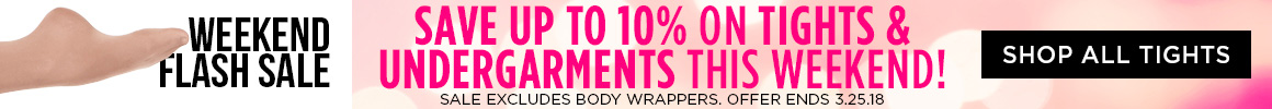 10% off tights and undergarments