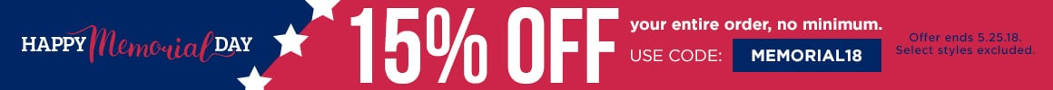 Memorial day sale 15% your entire order