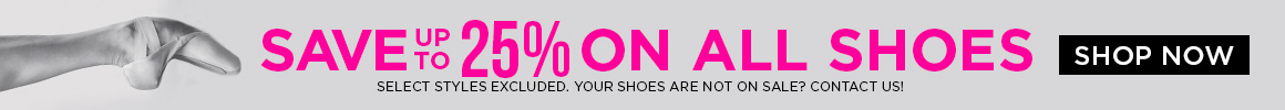 Save up to 25% on shoes