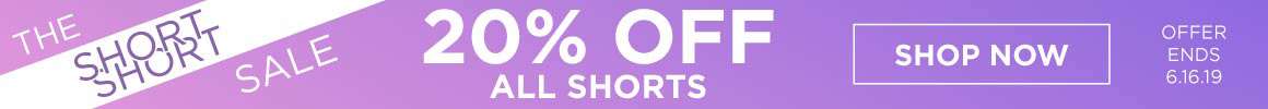 ad for 20% off shorts