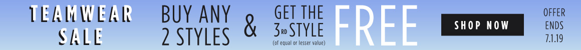 ad for buy 2 get the 3rd free on team wear styles