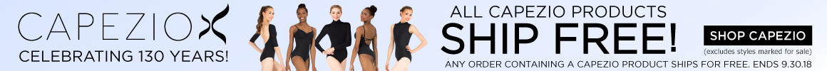 Get free shipping when you add a Capezio style to your order.