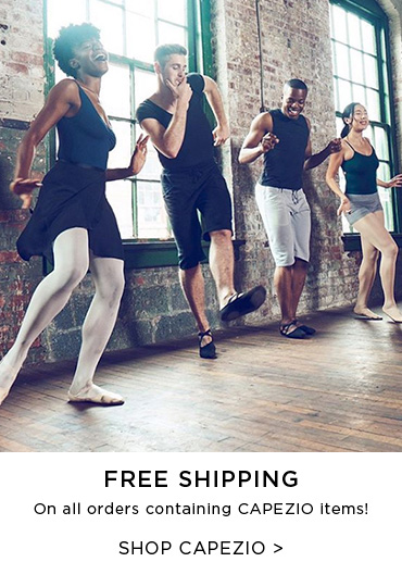 Ad for free shipping when you buy a Capezio style
