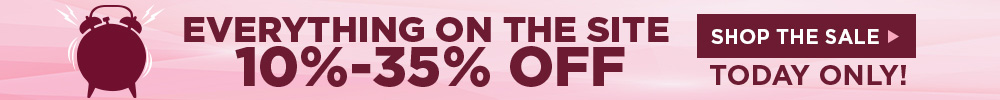 10% to 35% off everything!