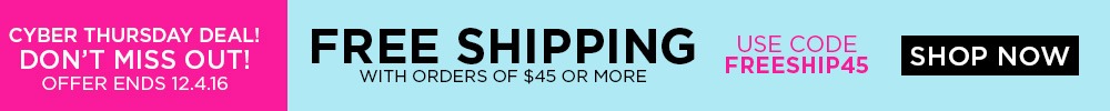 Free Shipping on orders $45+
