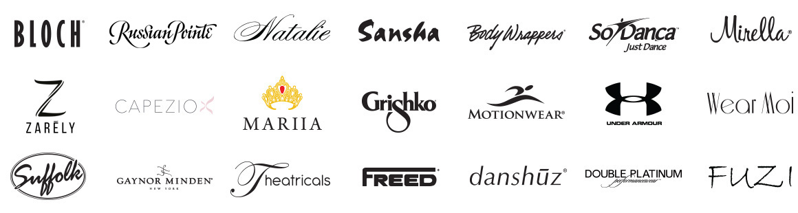 Dance clothing brands that Discount Dance Supply sells