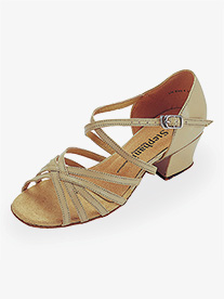"Go Go - Girls 1.5"" Heel Multi-Strap Ballroom Dance Shoes"