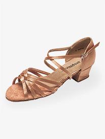 "Stephanie - Womens 1.5"" Heel Multi-Strap Ballroom Dance Shoes"