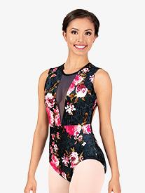 """Chelsea B Dancewear - Girls """"Velvet Blossom"""" Floral Tank Leotard"""