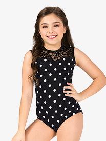 Chelsea B Dancewear - Girls Polka Dot Tank Leotard
