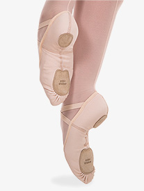 Body Wrappers - Girls 4-Way Total Stretch Ballet Shoes by Angelo Luzio