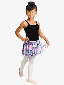 Danznmotion - Girls Floral Print Pull-On Ballet Skirt