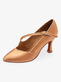 "Stephanie - Womens 2"" Heel Closed Toe Ballroom Shoes"