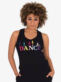 Body Wrappers - Womens Colorful Graphic Dance Tank Top