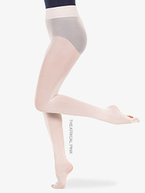 Body Wrappers - Womens Plus Size Nylon Smooth Waist Convertible Dance Tights
