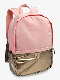 DansBagz - Pink and Gold Metallic Puffer Dance Backpack