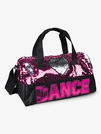 Danznmotion - Flip Sequin Heart Dance Duffle Bag