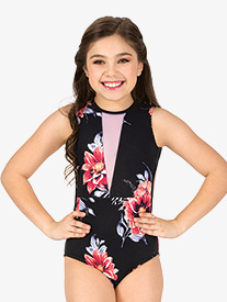 "Chelsea B Dancewear - Girls ""Blossom"" Floral Tank Leotard"