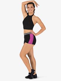 BalTogs - Womens Team Plus Size Contrast Compression Shorts