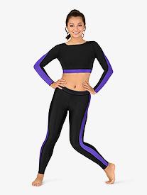BalTogs - Womens Plus Size Team Two-Tone Compression Leggings