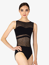 BalTogs - Womens Diamond Mesh Tank Leotard