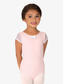 BalTogs - Girls Mesh Short Sleeve Leotard
