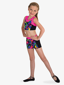 Body Wrappers - Girls Boy-Cut Gymnastics Shorts