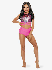 Kandi Kouture - Womens High Waist Banded Dance Shorts