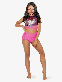 Kandi Kouture - Girls High Waist Banded Dance Shorts
