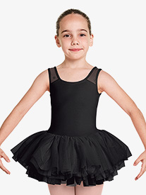 "Bloch - Girls ""Aiko"" Floral Mesh Tank Ballet Tutu Dress"