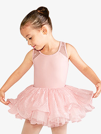 Bloch - Girls Bow Mesh Keyhole Back Tank Leotard