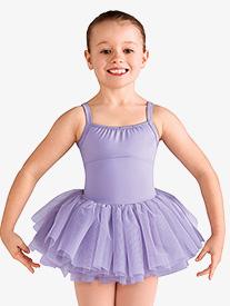 Bloch - Girls Diamond Heart Mesh Camisole Ballet Tutu Dress
