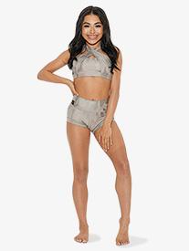 Kandi Kouture - Girls Camo Print High Waist Dance Shorts