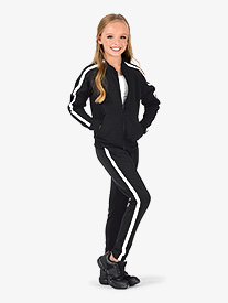 Dance Department - Girls Team Pull-On Striped Sweatpants