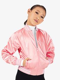 Dance Department - Girls Satin Dance Bomber Jacket