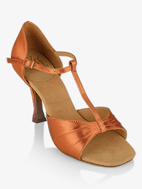 "Ray Rose - Womens ""Frost"" T-Strap Satin Ballroom Dance Shoes"