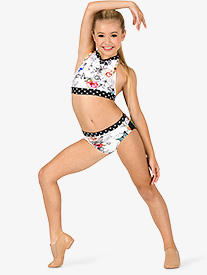 Dance to the Beach - Girls Sketched Floral Dance Briefs