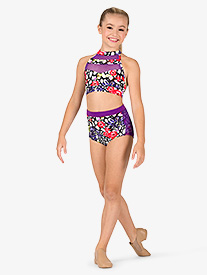 Dance to the Beach - Girls Leopard Floral Dance Briefs