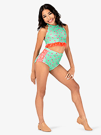 Dance to the Beach - Girls Flamingo Print Dance Briefs