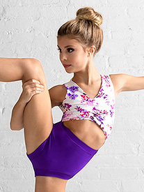 Dance to the Beach - Girls Purple Floral Tank Leotard