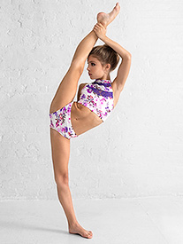 Dance to the Beach - Girls Purple Floral Dance Briefs