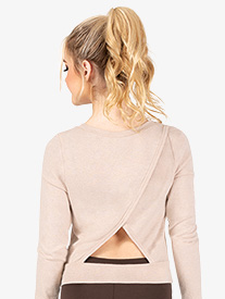 Natalie - Womens Triangle Back Warm Up Sweater