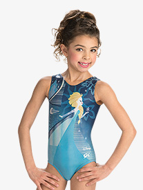 GK Elite - Girls/Womens Disney Elsa's Blue Ice Leotard