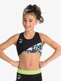 GK Elite - Girls Disney Alice In Wonderland Spring Fever Crop Top