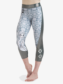 GK Elite - Womens Disney Frozen Shimmer & Shine Elsa Capri