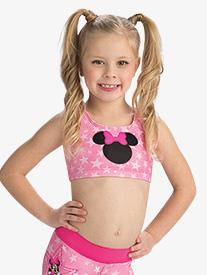 GK Elite - Girls Disney Starring Minnie Mouse Crop Top