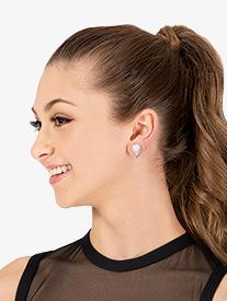 Go Girl - 10mm Pearl Rosette Clip On Earrings