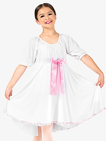 Elisse by Double Platinum - Girls Short Sleeve Ribbon Dress