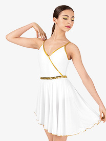 Elisse by Double Platinum - Womens Dance Costume Grecian Camisole Dress