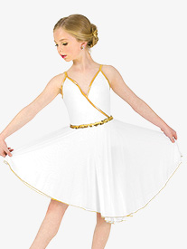 Elisse by Double Platinum - Girls Dance Costume Grecian Camisole Dress